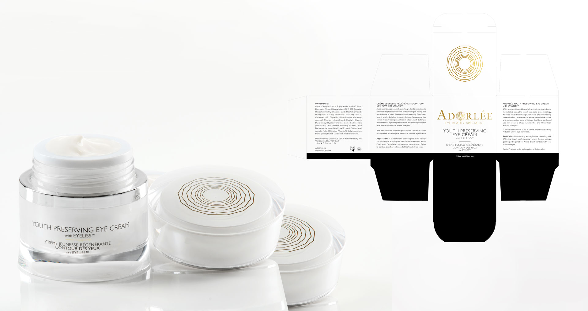 Adorlee product development research package design