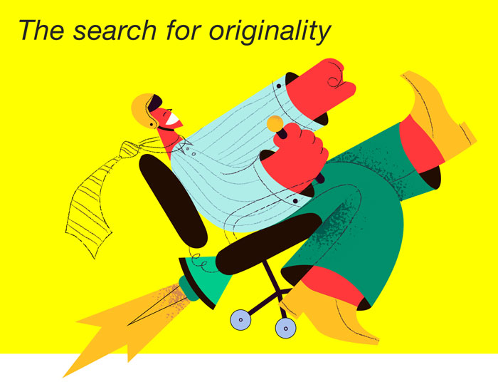 The search for originality in coming up with a business brand name